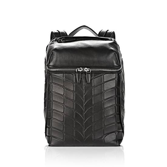 BLACK ALEXANDER WANG TIRE INSIDE-OUT BACKPACK IN BLACK WITH RHODIUM Outlet Online
