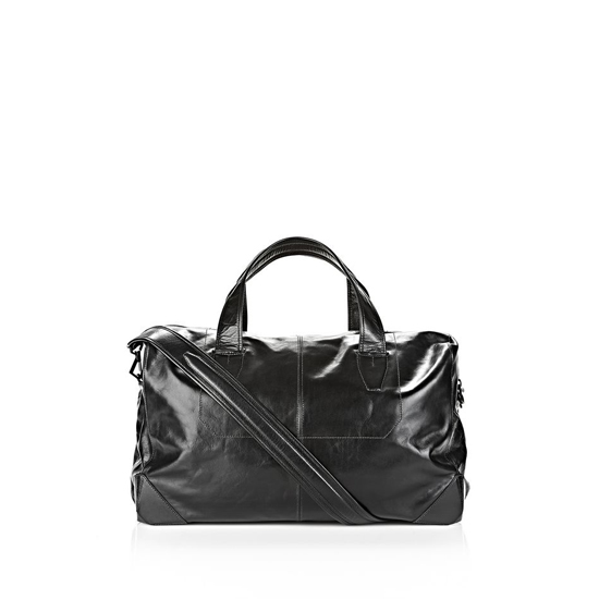 BLACK ALEXANDER WANG WALLIE DUFFLE IN WAXY BLACK WITH MATTE BLACK Outlet Online