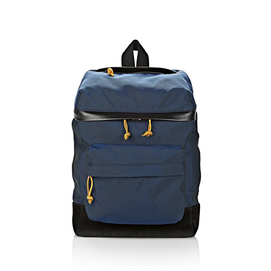 DARK BLUE ALEXANDER WANG WALLIE BACKPACK IN NEPTUNE CANVAS WITH RHODIUM Outlet Online