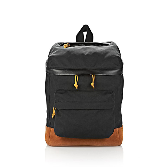 BLACK ALEXANDER WANG WALLIE BACKPACK IN BLACK CANVAS WITH RHODIUM Outlet Online