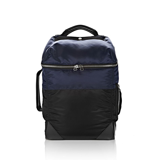 DARK BLUE ALEXANDER WANG WALLIE BACKPACK BOMBER IN NAVY NYLON WITH SILVER Outlet Online