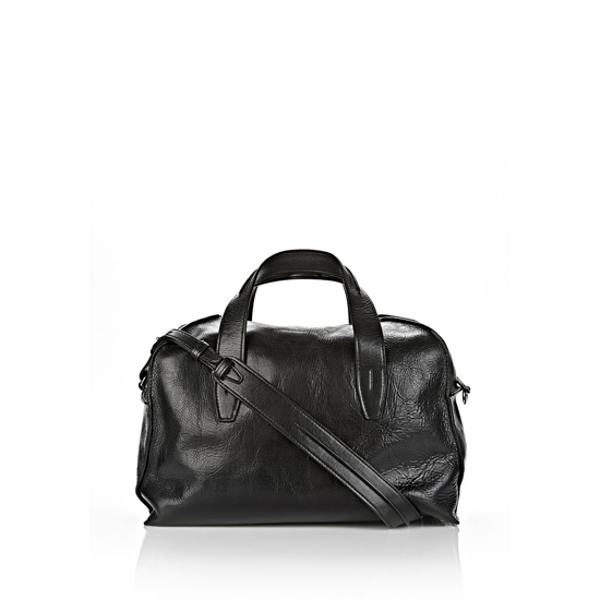 BLACK ALEXANDER WANG INSIDE-OUT SMALL DUFFLE IN BLACK WITH RHODIUM Outlet Online