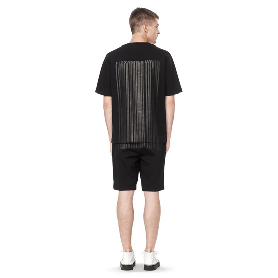 BLACK ALEXANDER WANG BONDED BARCODE LOGO TEE Outlet Online