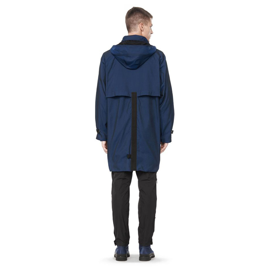 DARK BLUE ALEXANDER WANG MULTI POCKET HOODED PARKA JACKET Outlet Online