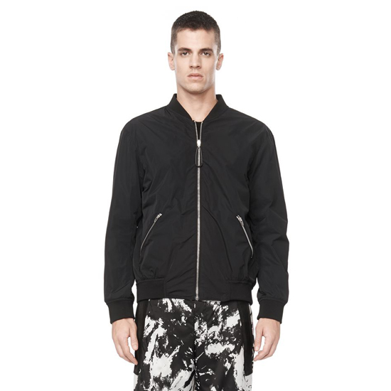STEEL GRAY ALEXANDER WANG REVERSIBLE BOMBER JACKET Outlet Online