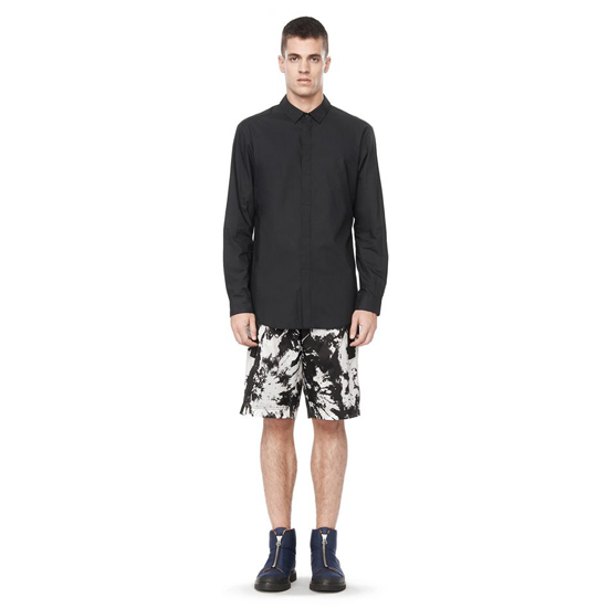 BLACK ALEXANDER WANG COLLARD BUTTON DOWN SHIRT Outlet Online