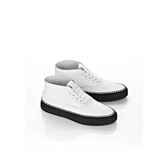 WHITE ALEXANDER WANG ASHER HIGH TOP SNEAKER Outlet Online