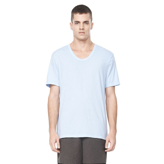 SKY BLUE ALEXANDER WANG CLASSIC LOW NECK SHORT SLEEVE TEE Outlet Online