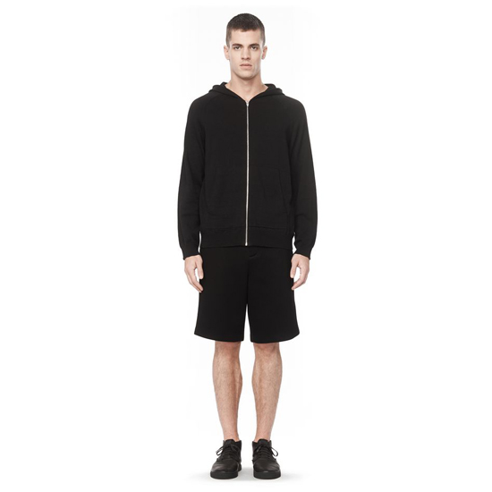 BLACK ALEXANDER WANG ZIP-UP HOODIE Outlet Online