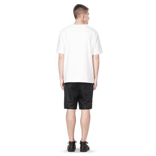 WHITE ALEXANDER WANG COTTON JERSEY SHORT SLEEVE HENLEY Outlet Online