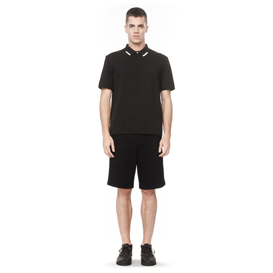 BLACK ALEXANDER WANG SHORT SLEEVE POLO SHIRT Outlet Online