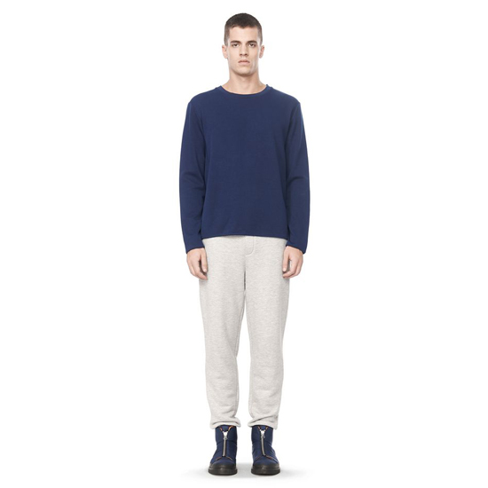 LIGHT GRAY ALEXANDER WANG TWILL TERRY SWEATPANTS Outlet Online