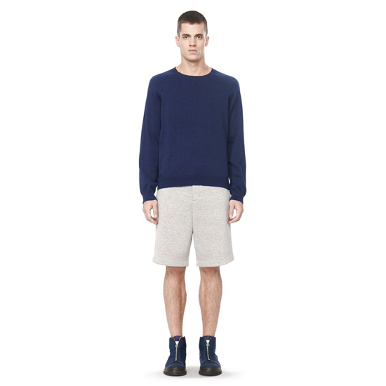 DARK BLUE ALEXANDER WANG LONG SLEEVE CREWNECK SWEATER Outlet Online