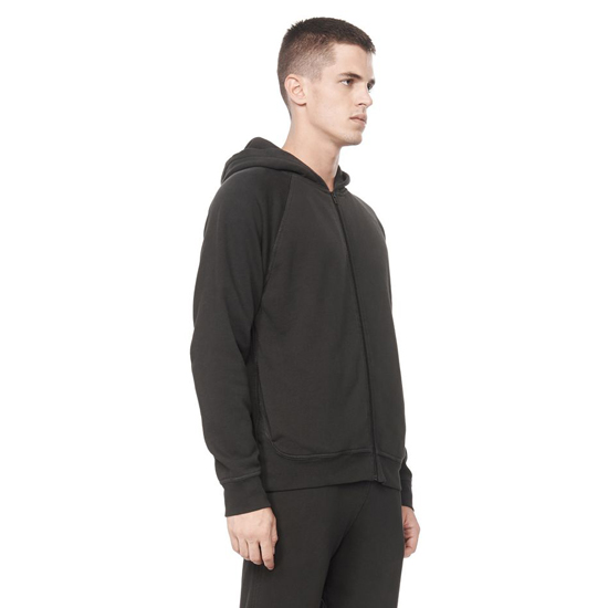 STEEL GRAY ALEXANDER WANG VINTAGE FLEECE ZIP-UP HOODIE Outlet Online