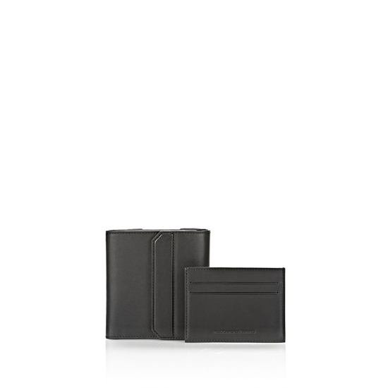 BLACK ALEXANDER WANG CHASTITY COMPACT WALLET IN SMOOTH BLACK WITH RHODIUM Outlet Online