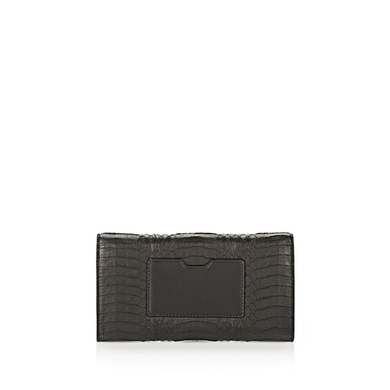 BLACK ALEXANDER WANG CHASTITY CONTINENTAL WALLET IN BLACK ELAPHE WITH RHODIUM Outlet Online