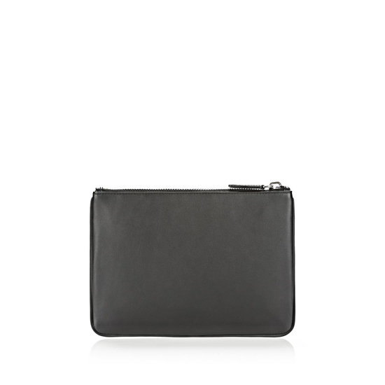 MULTICLR ALEXANDER WANG SNEAKER POUCH IN BLACK AND LACQUER WITH IMITATION RHODIUM Outlet Online