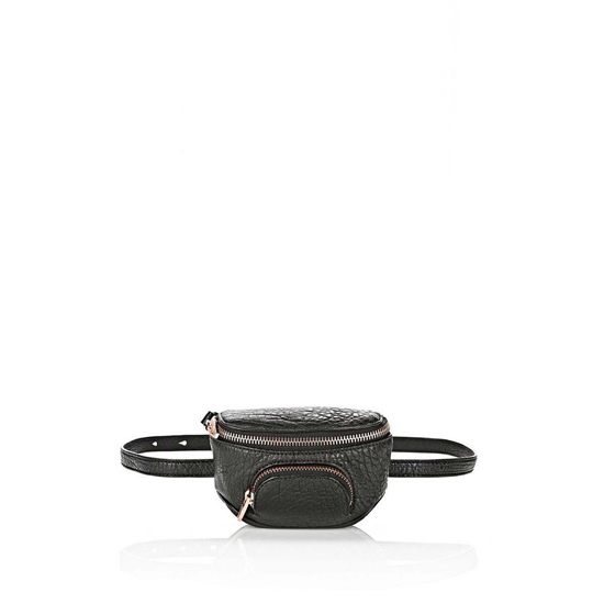 BLACK ALEXANDER WANG FANNY PACK IN PEBBLED BLACK WITH ROSE GOLD Outlet Online