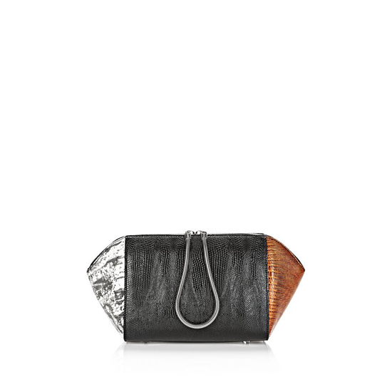 MULTICLR ALEXANDER WANG LARGE EMBOSSED CHASTITY MAKEUP POUCH IN TRICOLOR Outlet Online