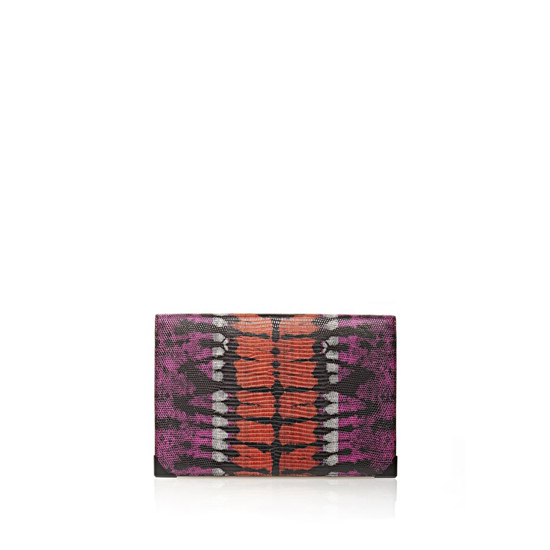 MULTICLR ALEXANDER WANG PRISMA DOUBLE BIKER PURSE IN TIE DYE BUBBA AND FLAME Outlet Online