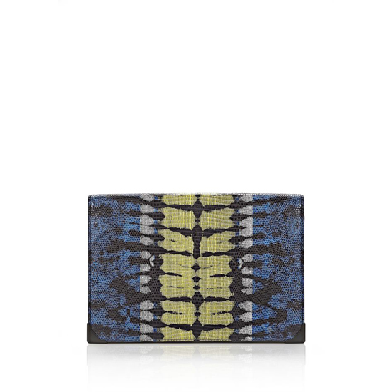 MULTICLR ALEXANDER WANG PRISMA SKELETAL COMPACT WALLET IN TIE DYE PLASMA AND ACID WITH MATTE BLACK Outlet Online