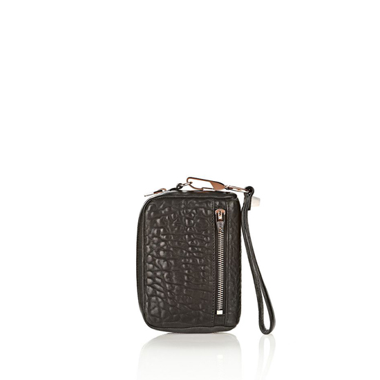BLACK ALEXANDER WANG LARGE FUMO IN PEBBLED BLACK WITH ROSE GOLD Outlet Online