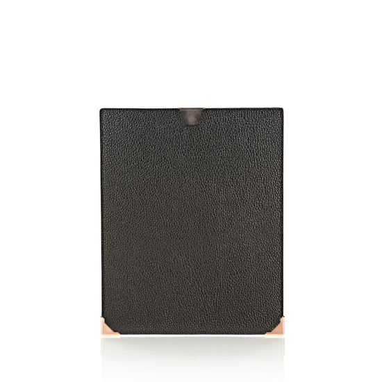 BLACK ALEXANDER WANG PRISMA IPAD SLEEVE IN PEBBLED CALF WITH ROSE GOLD Outlet Online