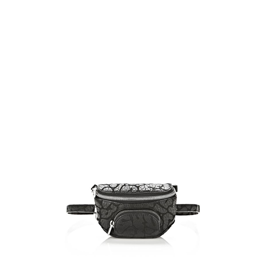 BLACK ALEXANDER WANG LASER CUT DUMBO FANNY PACK IN BLACK WITH RHODIUM Outlet Online