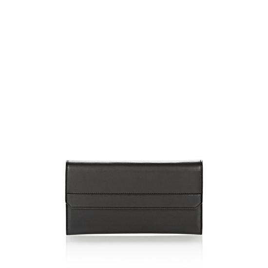 BLACK ALEXANDER WANG CHASTITY CONTINENTAL WALLET IN SMOOTH BLACK WITH RHODIUM Outlet Online