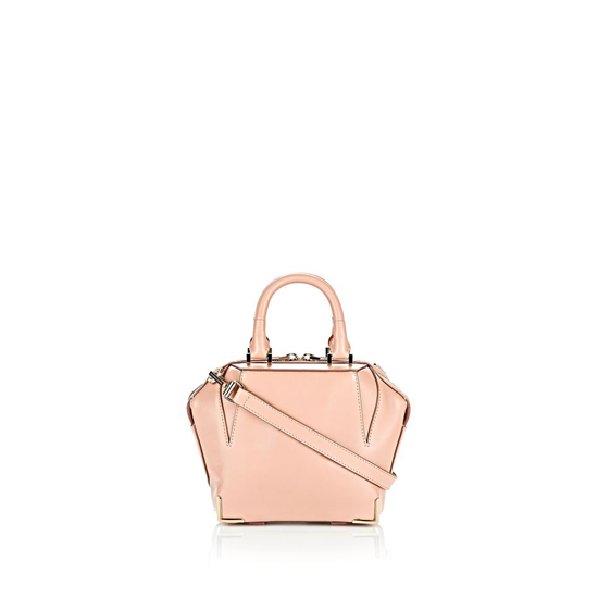 LIGHT PINK ALEXANDER WANG MINI SKELETAL EMILE IN BLUSH WITH PALE GOLD Outlet Online
