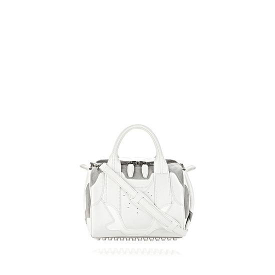 WHITE ALEXANDER WANG SNEAKER ROCKIE IN OPTIC WHITE AND LIGHT CONCRETE WITH RHODIUM Outlet Online