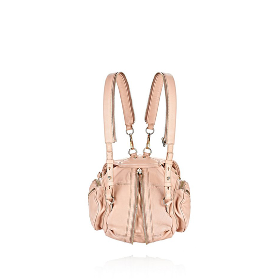 LIGHT PINK ALEXANDER WANG MINI MARTI IN WASHED BLUSH WITH PALE GOLD Outlet Online