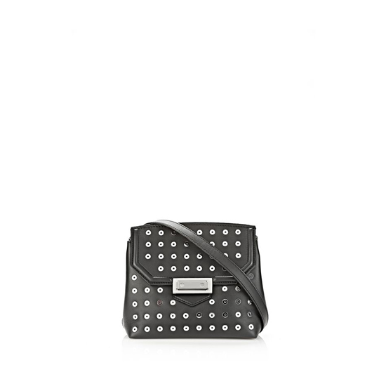 BLACK ALEXANDER WANG MARION SLING IN SOFT BLACK WITH EYELETS AND RHODIUM Outlet Online