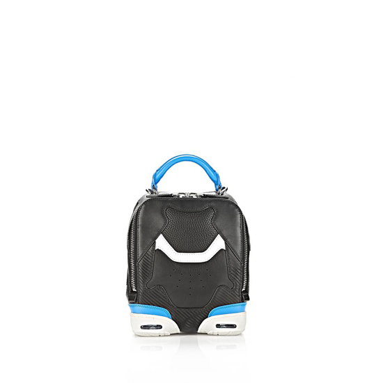 MULTICOLORED ALEXANDER WANG SMALL SNEAKER BAG IN BLACK AND AIRFORCE WITH RHODIUM Outlet Online