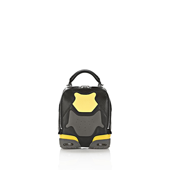 MULTICOLORED ALEXANDER WANG EXCLUSIVE SMALL SNEAKER BAG IN EXHAUST AND LIMONITE WITH RHODIUM Outlet Online