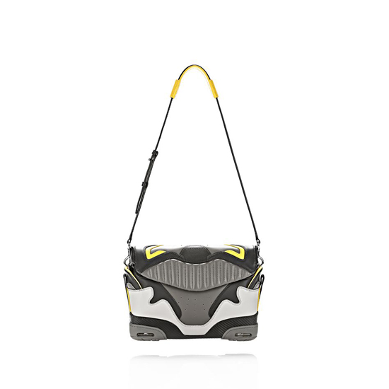 MULTICOLORED ALEXANDER WANG EXCLUSIVE LARGE SNEAKER SLING IN EXHAUST AND LIMONITE Outlet Online