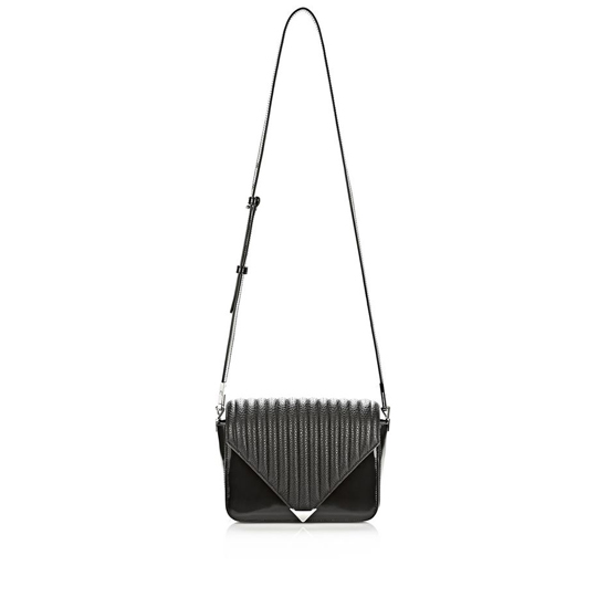 BLACK ALEXANDER WANG PRISMA ENVELOPE SLING IN BLACK QUILT WITH RHODIUM Outlet Online