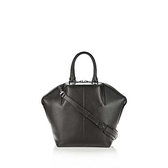 BLACK ALEXANDER WANG SMALL EMILE TOTE IN BLACK WITH RHODIUM Outlet Online