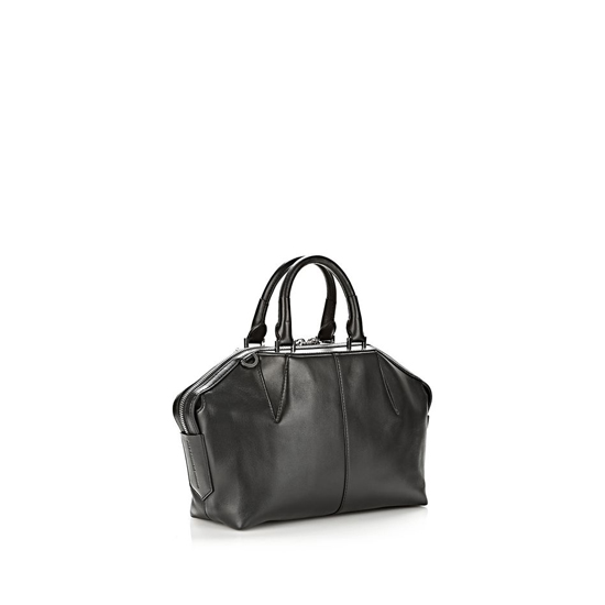 BLACK ALEXANDER WANG EMILE DOCTOR SATCHEL IN BLACK WITH RHODIUM Outlet Online
