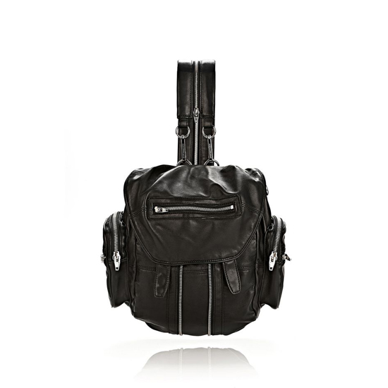 BLACK ALEXANDER WANG MARTI BACKPACK IN WASHED BLACK WITH NICKEL Outlet Online
