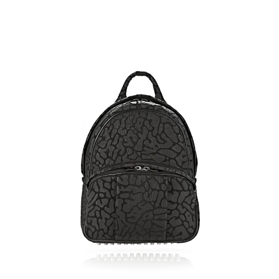 BLACK ALEXANDER WANG LASER CUT DUMBO BACKPACK IN BLACK WITH RHODIUM Outlet Online