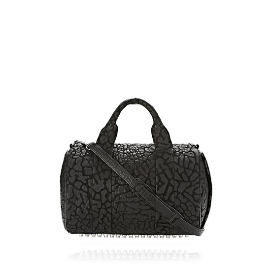 BLACK ALEXANDER WANG ROCCO IN LASER-CUT BLACK WITH RHODIUM Outlet Online