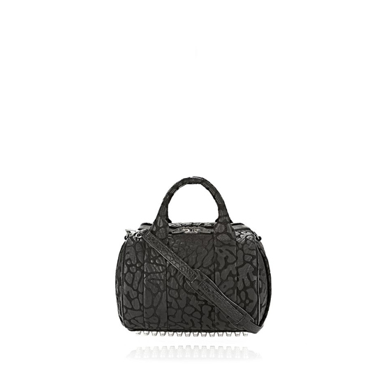 BLACK ALEXANDER WANG LASER CUT ROCKIE IN BLACK WITH RHODIUM Outlet Online