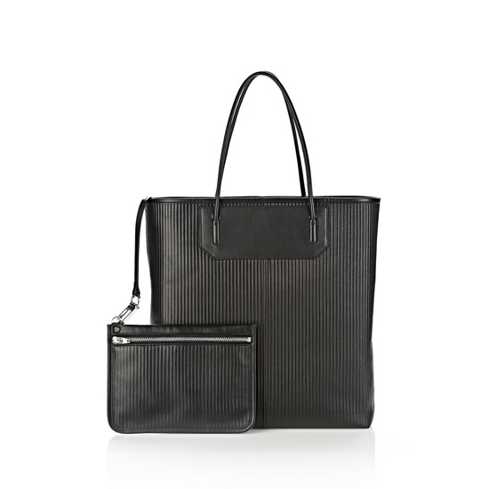 BLACK ALEXANDER WANG PRISMA TOTE IN BLACK WITH RHODIUM Outlet Online
