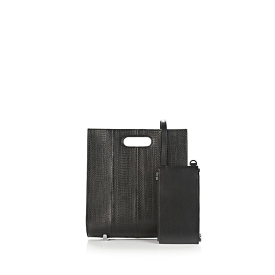 LEAD ALEXANDER WANG CHASTITY TOTE IN BLACK ELAPHE WITH RHODIUM Outlet Online