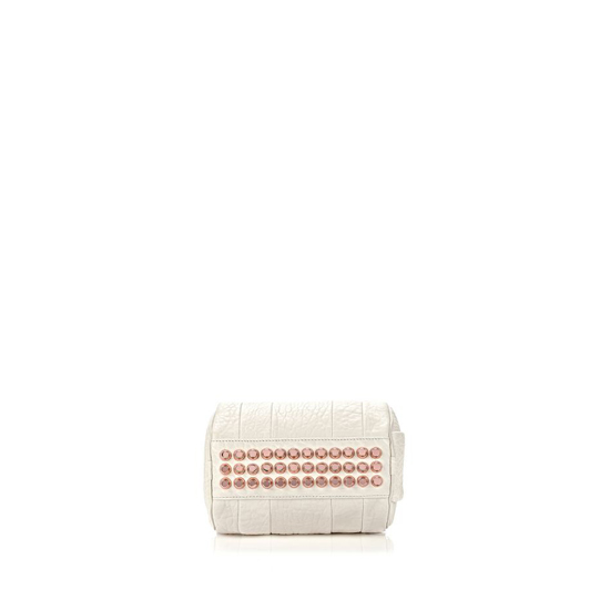 IVORY ALEXANDER WANG MINI ROCKIE IN PEBBLED OPALINE WITH ROSE GOLD Outlet Online