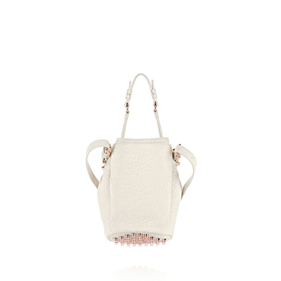IVORY ALEXANDER WANG SMALL DIEGO IN PEBBLED OPALINE WITH ROSE GOLD Outlet Online