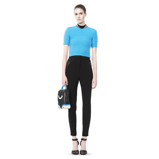 BLUE ALEXANDER WANG CROPPED CYCLING TEE Outlet Online