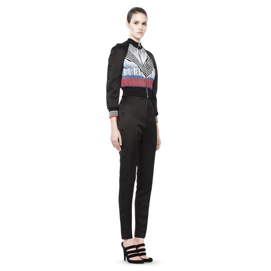 MULTICOLOR ALEXANDER WANG CHEVERON PLEATED TRACK JACKET Outlet Online