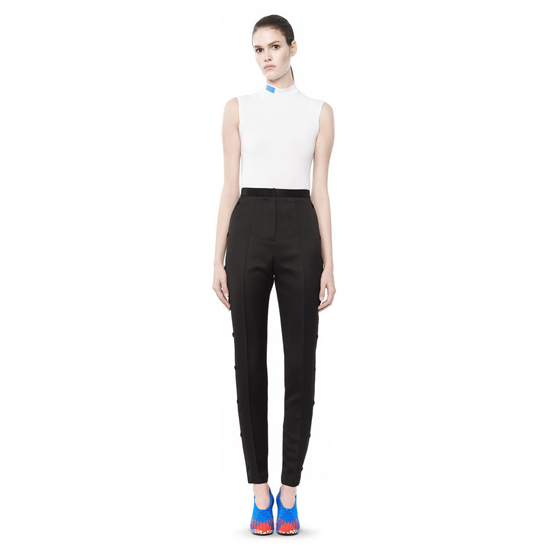 BLACK ALEXANDER WANG HIGH WAISTED PANT WITH SNAP DETAIL Outlet Online